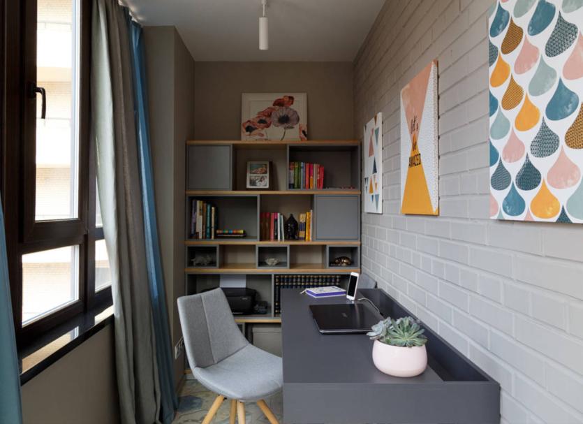 Идеи кабинета на балконе
