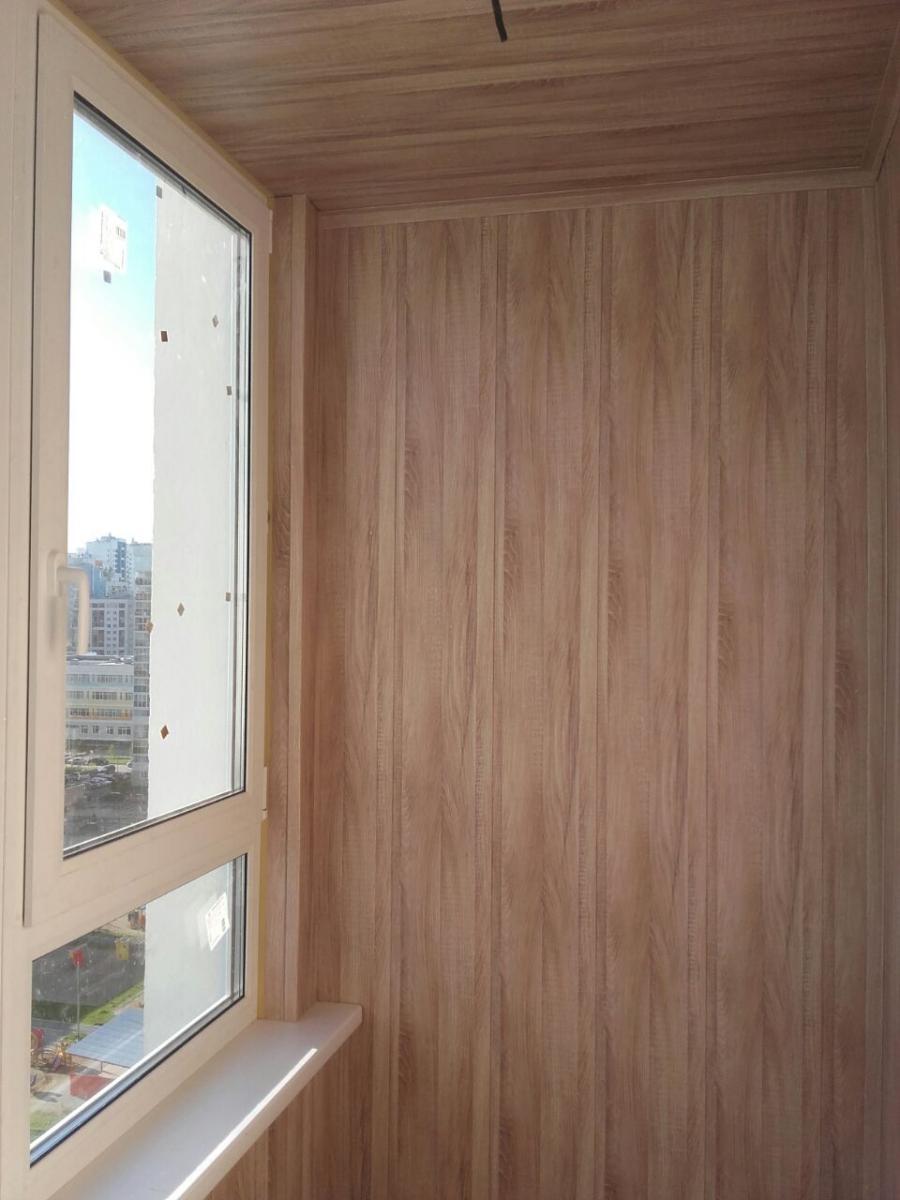 Балкон ламинированными панелями